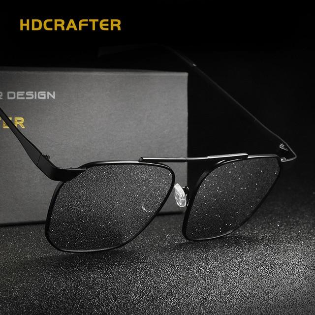 84a0fa336c HDCRAFTER Fashion Men Polarized Sunglasses Brand Designer Metal Frame  Outdoor sports Driving Sun Glasses UV400 Oculos de sol