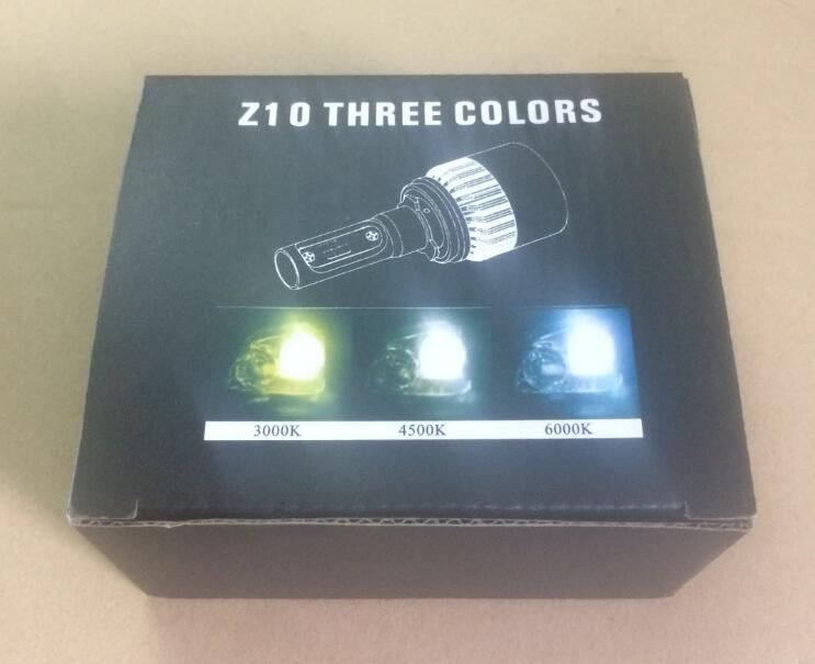 DLAND OWN Z10 THREE COLORS 8000LM H1 H3 H7 9006 HB4 9005 HB3 H8 H9 H11 H10 HIGH POWER AUTO LED LIGHT BULB LAMP, 12V 24V 36W DC