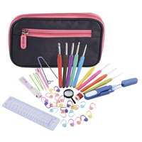 New Exclusive Offer 44 Pcs Ergonomic Crochet Hook Set With Organizer Case and Complet Accessories Crochet knitting needles Kit