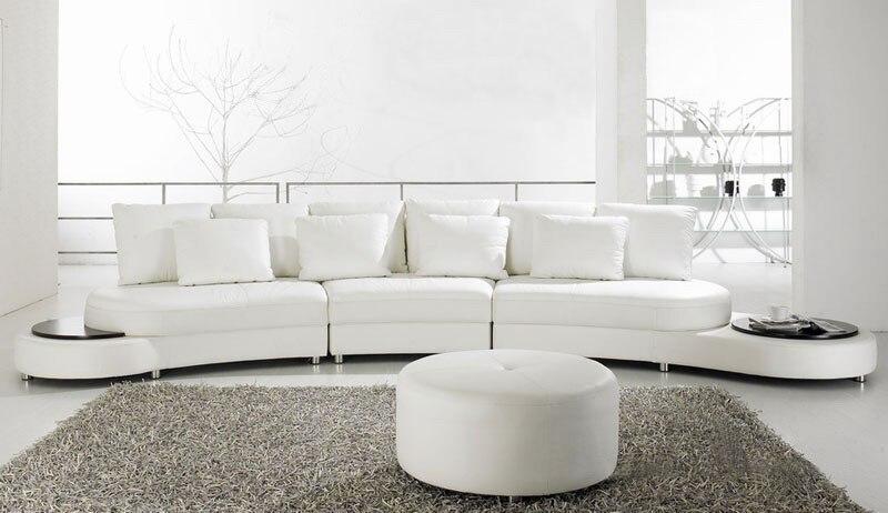 White Leather Sofas Modern - Sofa