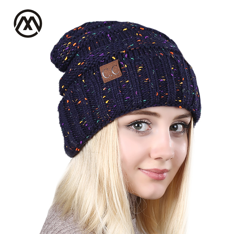 cc font b cap b font lady font b winter b font fashion hat blended knitted