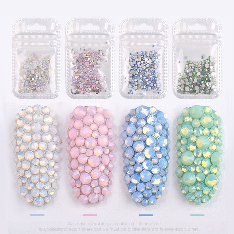 1pack Mixed Size (SS4 SS20) Crystal Colorful Opal Nail Art Rhinestone  Decorations Glitter Gems 3D Manicure Books Accessory Tools-in Rhinestones  ... 7d0eceeb87b4
