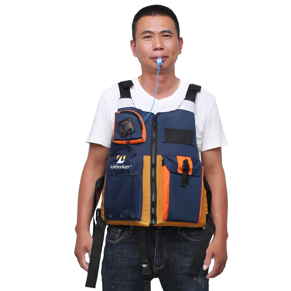 New outdoor Fly fishing vest Kayak Fishing Life Jacket Men Breathable Safety Waistcoat Survival Utility Vest PFD