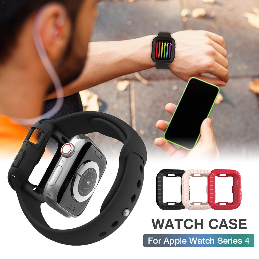 New Applicable To Apple Iwatch4 Generation Protective Shell Ultra thin Anti drop Soft Silicone Iwatch 4 Watch Case 40 43mm Shell in Smart Accessories from Consumer Electronics