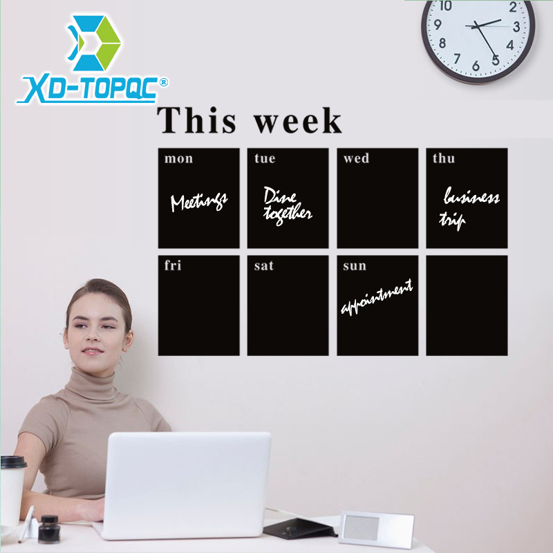 2019 New PVC Removable This Weekly Planner Blackboard Stickers Environmentally Chalkboard Stickers On The Wall Lousa
