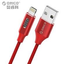 ORIO pour iPhone USB Câble iOS 10 USB TYPE-A à Éclairage 8-pin data sync chargeur câble avec Indicateur LED pour iPhone 7 6 5