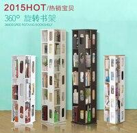 Modern Simple Small Bookshelf Landing Shelf Revolving Bookcase Creative CD Rack