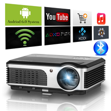 CAIWEI Android WIFI Bluetooth LCD Home Cinema Theater Projector Support Full HD Wireless Movie Game Party HDMI USB