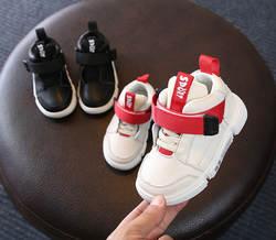 Осень натуральная кожа спортивная обувь 2018 новых мальчиков Повседневное высокое детская обувь для девочек школьные Кроссовки супер