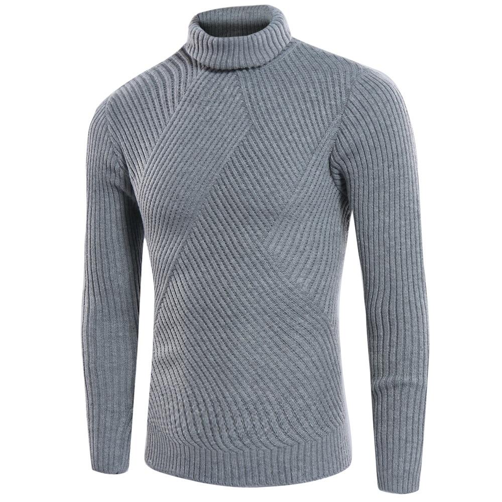 Fashion Leisure Pure Turtleneck Men Size Sweater Fashion Casual Pure Wild Turtleneck Sweater Hot Men's Large Size Knitwear New