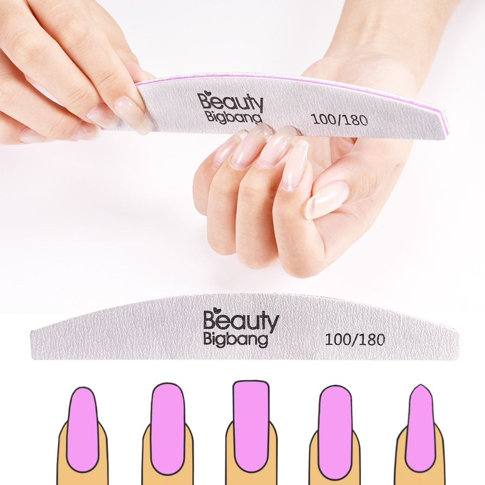 BeautyBigBang 1PC Double Side Nail File Sanding Buffer Block Pedicure Manicure Buffing Professional Nail Files Nail Polish Tools