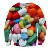 Neue Mode für Männer/Frauen Pille Poppin 3D Print Sweatshirt Hoodies S M L XL XXL 3XL 4XL 5XL 6XL