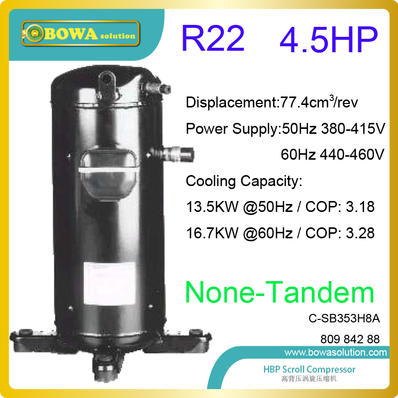 4.5HP Air conditioner compressors for R22 high background pressure refrigeration plant, such as water chillers and water coolers стулья для салона thailand such as