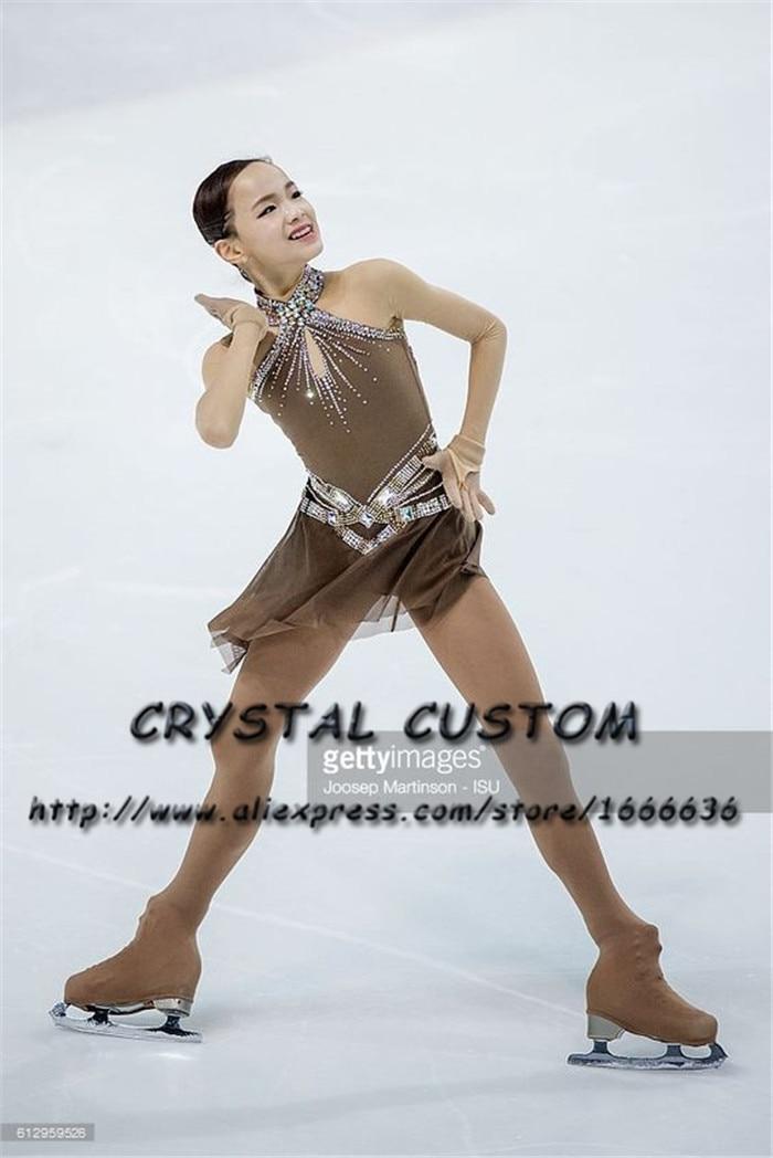 Cristallo Personalizzato Pattinaggio di Figura Vestito Vestiti Delle Ragazze Brand New Pattinaggio Su Ghiaccio Per La Concorrenza DR4691
