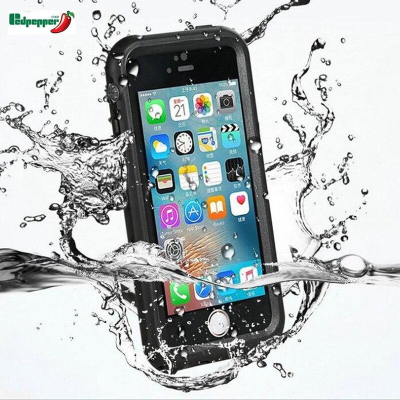bilder für Ursprüngliche volle wasserdicht versiegelt stoßfest schmutzfester touch id tauchen unterwasser matte case für iphone 7 7 plus abdeckung shell tasche