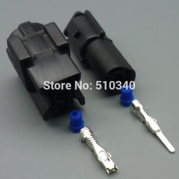 100 Set Waterproof 1 Pin connector Female Male connector Kit Auto Sealed Plastic Auto Injection Mould Connector Automobile