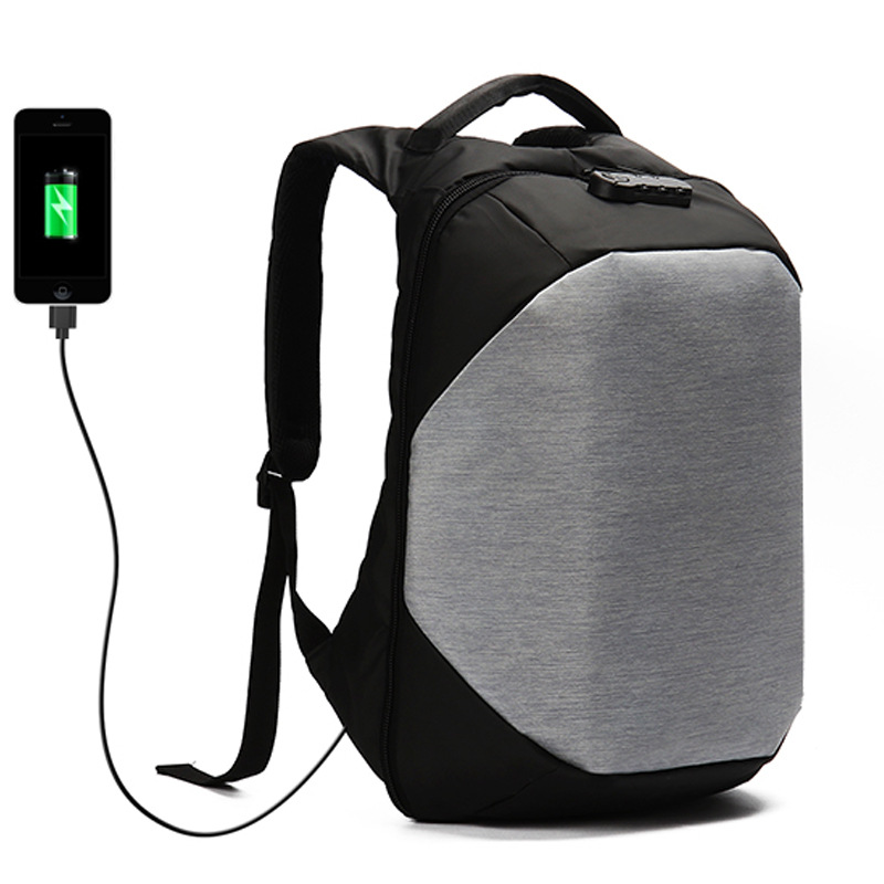 Smart Urban Anti Theft Backpack Best Anti-Theft Usb Charging Travel Backpack with Waterproof Cover Laptop Bag 15.6 anti Thief E3