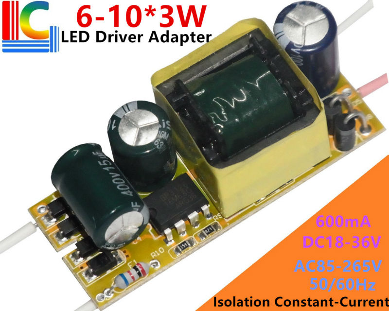 BP3126 6-10*3W Led Driver 18W/21W/24W/27W/30W Lamp Driver Power Supply Lighting Transformer AC85-265V Output 600mA Adapter 1PCs