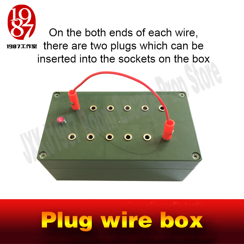 Image 2 - Escape room takagism game props plug wire box all the wires are inserted into the right sockets to unlock charmber room JXKJ1987-in Alarm System Kits from Security & Protection