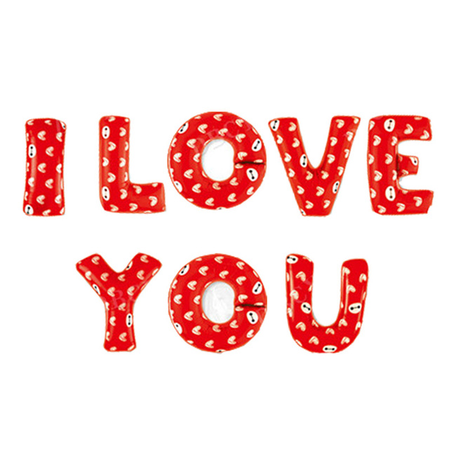 I love you letter foil balloons wedding decoration mariage for I love you letter balloons