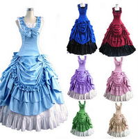(GT004) Halloween Costumes for Women Adult Southern Victorian Dress Ball Gown Gothic Lolita Dress Plus Size Customized