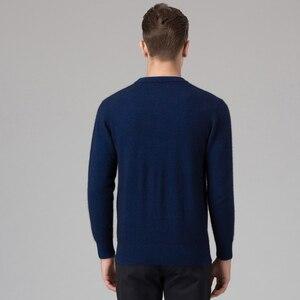 Image 2 - ผู้ชายฤดูหนาวจัมเปอร์ 100% แคชเมียร์และผ้าขนสัตว์ถักเสื้อกันหนาวคอยาวแขนยาว Pullovers ชาย 2016 เสื้อใหม่ขนาดใหญ่เสื้อผ้า