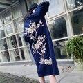 Новая зимняя платье красно-двустороннее норки шерстяное пальто в свободно утолщение соболь стекаются высокого класса норковая шуба