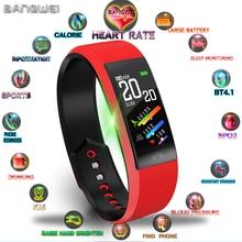 BANGWEI Women Fitness Waterproof Smart Bracelet Heart Rate Monitor Pedometer Bluetooth Connection Wristband Sport Watch