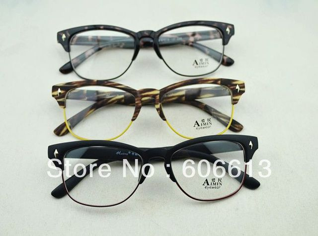 99f9067b4f Hot sale clear lens glasses frame retro vintage half frame eyeglasses lot  free jpg 640x475 Retro
