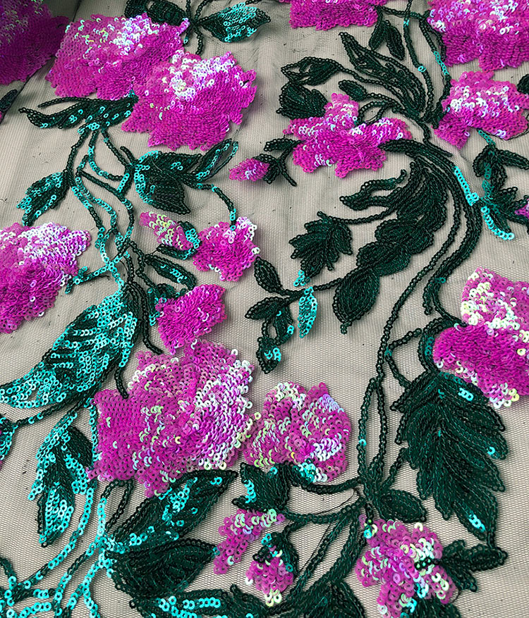 좋은 꽃 장식 조각 얇은 명주 그물 레이스 반짝 이는 부드러운 프랑스어 레이스 원단 아프리카 의류 봉제 천 조각 당 5 야드 고품질-에서레이스부터 홈 & 가든 의  그룹 3