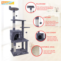 New Cat Furniture Cat Tree Domestic Delivery Cat Climbing Frame Pet Tree House Pet Supplies Kitten Toys 2 Color Multi-Functional