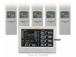 محطة الطقس اللاسلكية مع 5 أجهزة الاستشعار ، 5 قنوات ، شاشة ملونة ، مسجل بيانات ، الاتصال بجهاز الكمبيوتر