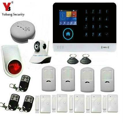 Sicherheitsalarm Yobang Sicherheit Wifi Gsm Sim Home Security Einbrecher Alarm System Wireless Sms Anruf App Alarm Android Ios Halten Home Safe Sicherheit & Schutz