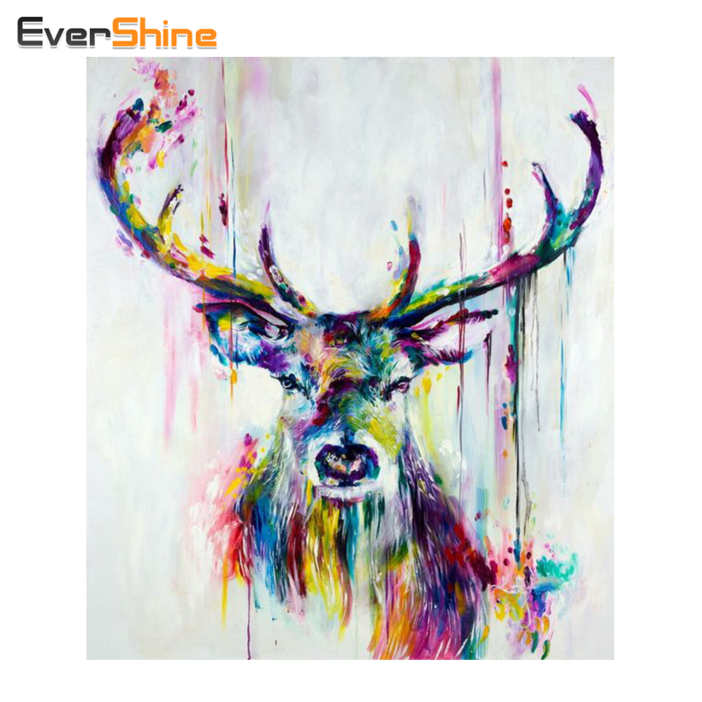 DIY Diamond Embroidery Deer Full Square Diamond Painting Cross Stitch Kit Animal Pictures Rhinestones Diamond Mosaic Home DecorDIY Diamond Embroidery Deer Full Square Diamond Painting Cross Stitch Kit Animal Pictures Rhinestones Diamond Mosaic Home Decor