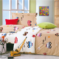 3 Pcs Cotton Baby Bedding Set Cartoon Baby Quilt cover +2 pillowcases