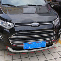 For Ford Ecosport 2013 2015 Front Under Bumper Bottom Grill Trim Cover Protector