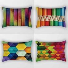 colors pencil pattern rectangle pretty men women  pillow case home cover