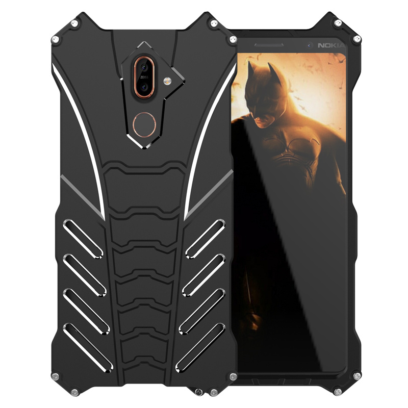 Luxury Batman Element Aluminum Metal Case For Nokia 7 Plus Cases Hard Heavy Duty Protection Bumper Case For Nokia 7 7 Plus Cover
