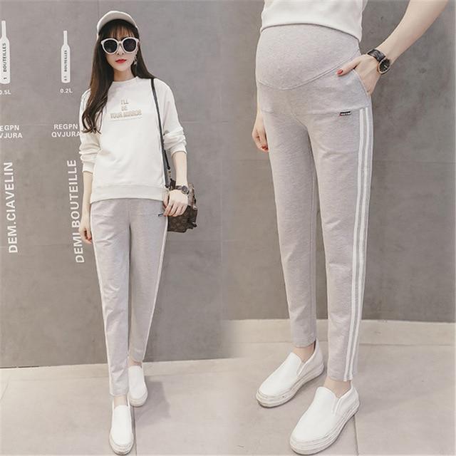 f5963c10e1d Las mujeres embarazadas pantalones de cintura al aire libre ropa de moda Deporte  Pantalones de deporte
