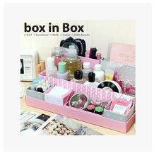 Korean Lovely Creative DIY Cardboard Paper Desk Cosmetic Storage Box Container Bag Case Multifunction Makeup Organizer Box
