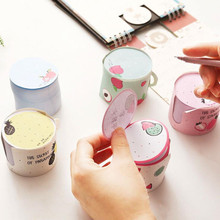 400 Sheets Creative Kawaii Fruit Cup Shaped Memo Pads Message Note Paper Daily To Do It Planner Notepads