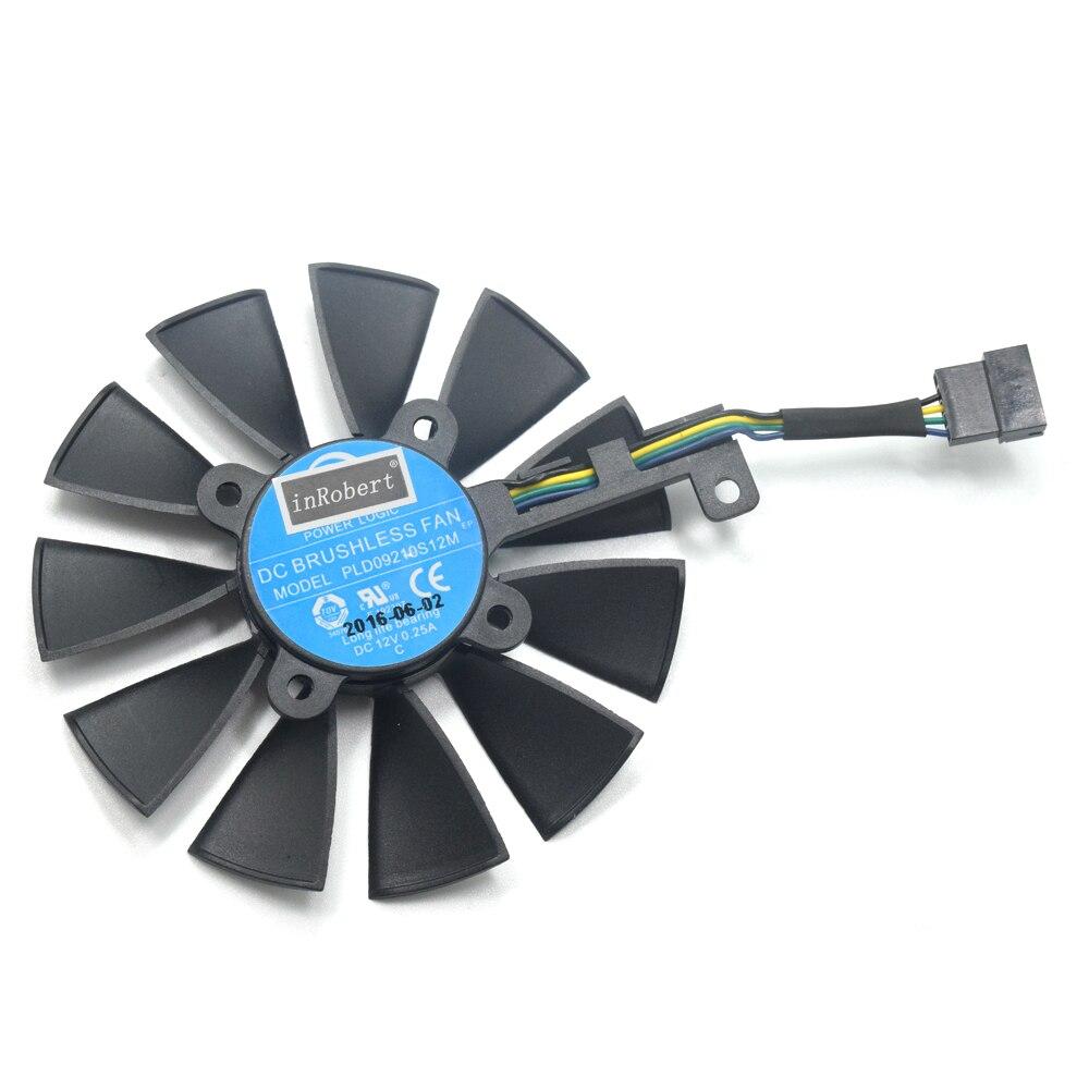 87mm FDC10H12S9-C T129215SM PLD09210S12M 5Pin 0.25A ventilador del refrigerador para ASUS ROG Strix GTX 1080 1070 1060 RX 480 580 tarjeta gráfica
