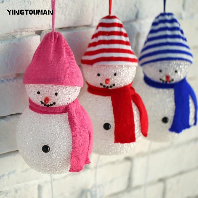 yingtouman 3pcslot 2018 led lamp inflatable snowman family led lighted outdoor christmas yard art
