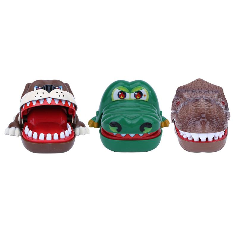 Creative Trick Toys Funny Crocodile Dinosaur Dog Bite Finger Game Novetly Fun Toys Novelty Gag Gift