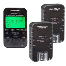 2 unids yongnuo yn622c ii + yn622c-tx e-ttl transceptor disparador de flash inalámbrico para canon cámara de yongnuo yn565 yn568 yn685 flash