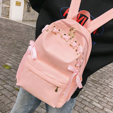 Litthing Girls School Bag Fresh Sweet Candy Color Pink Backpack Students Travel Shoulder Pack Women Daily