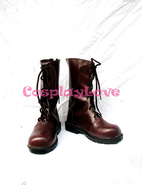 Vampire Knight Cosplay Shoes Kuran Yuuki Brown Leather Boots Hand Made Custom-Made For Halloween Christmas Festival CosplayLove
