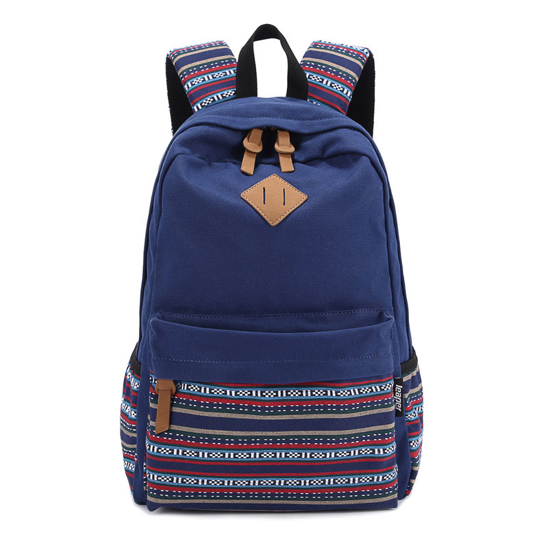 Ethnic Teenagers Girls Vintage Stylish School Bag Ladies Backpack Female Purple Back Pack High Quality