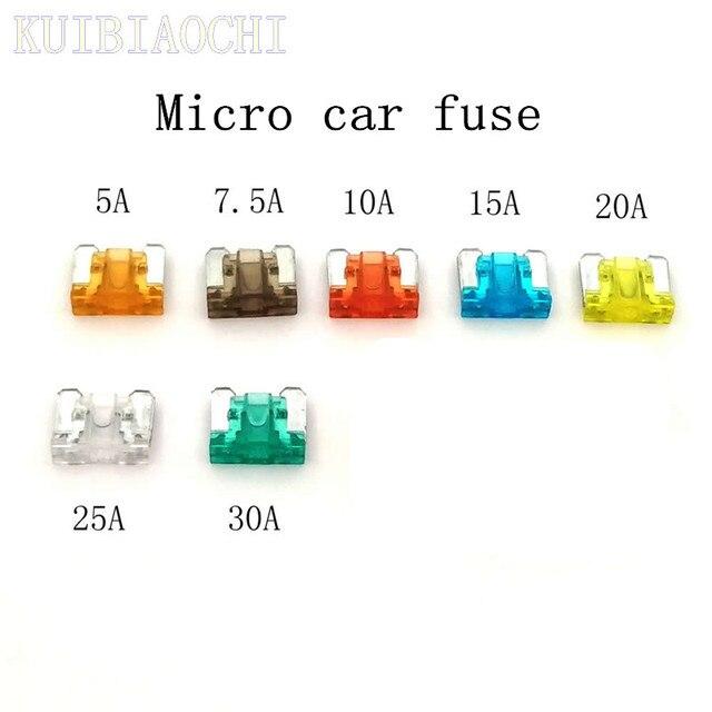 10pcs/lot Micro Automotive Fuses Micro car fuse 5A 7.5A 10A 15A 20A 25A 30A