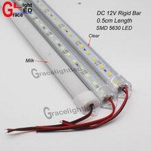 2 قطعة/الوحدة 50 سنتيمتر DC12V LED مصباح بار 5730 5630 مع غطاء الكمبيوتر 5730 LED قطاع الصلب ضوء إضاءة الخزانة المطبخ الجدار ضوء